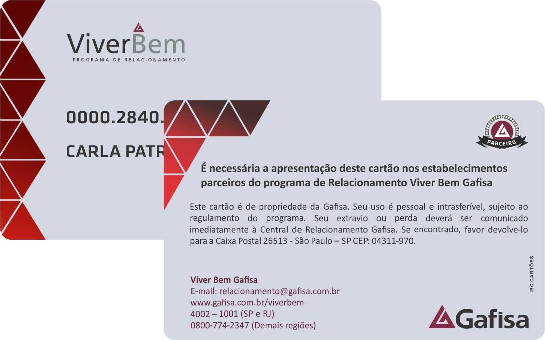Cartão personalizado em pvc