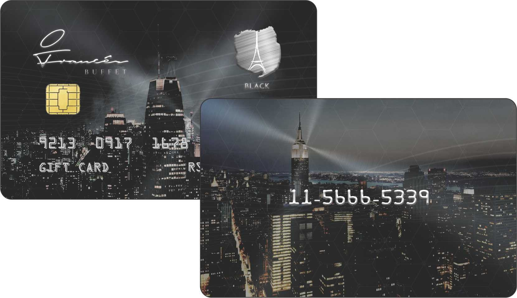 Cartão plástico personalizado