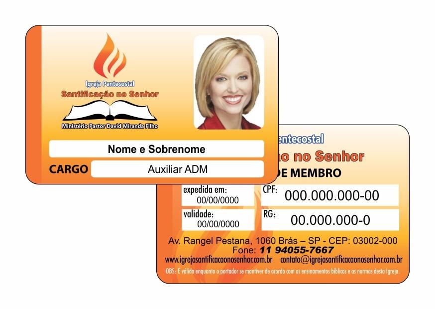 Impressão de cartão pvc
